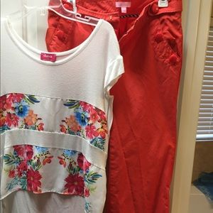 Lily Pulitzer pant and blouse set